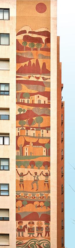 12 - Pl Granollers 8,  Itinerari pels esgrafiats de Mataró