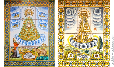 Montserrat, Degotalls, plafó ceràmic, Guivernau